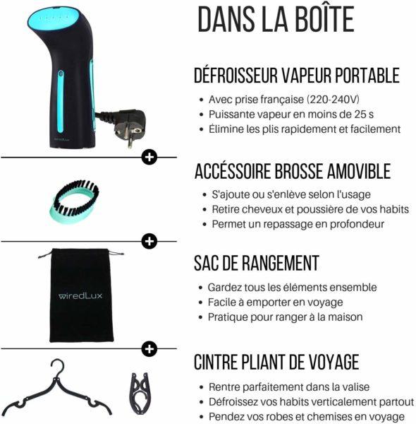 defroisseur portable WiredLux